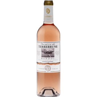 Bottle shot for 2020 Terrebrune Bandol Rose