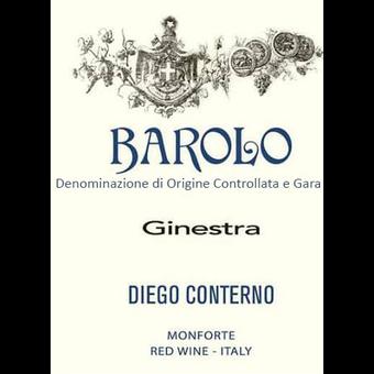 Label shot for 2016 Diego Conterno Barolo 'ginestra'