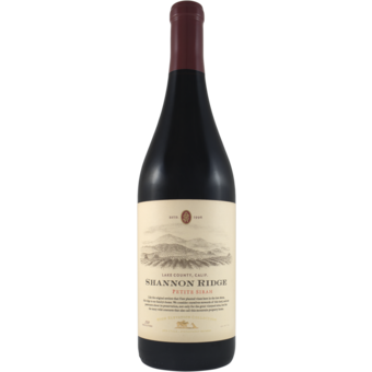 Bottle shot for 2019 Shannon Ridge High Elevation Collection Petite Sirah