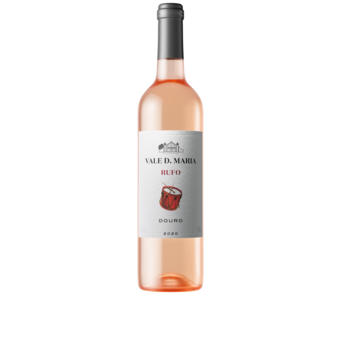 Bottle shot for 2020 Quinta Vale Dona Maria Rufo Touriga Franca & Touriga Nacional Rose