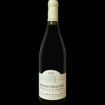 "Bottle shot for 2018 Domaine Rollin Pernand Vergelesses 1er Cru Rouge ""Ile Des Vergelesses"""