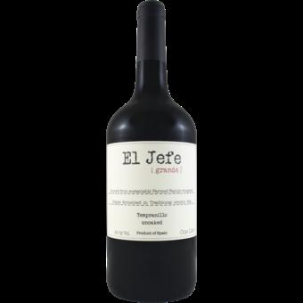 Bottle shot for 2020 El Jefe Grande Unoaked Tempranillo