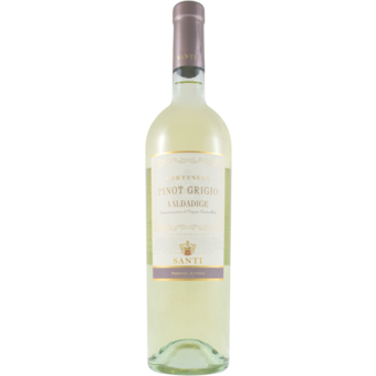 Bottle shot for 2020 Santi Pinot Grigio Sortesele