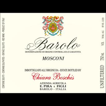 Label shot for 2017 E. Pira Chiara Boschis Barolo 'mosconi'