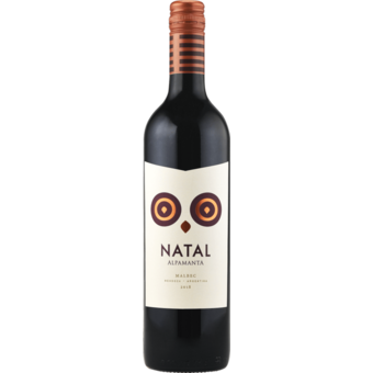 Bottle shot for 2018 Alpamanta Natal Malbec