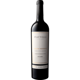 Bottle shot for 2018 Piattelli Grand Reserve Malbec Lujan De Cuyo Limited Production