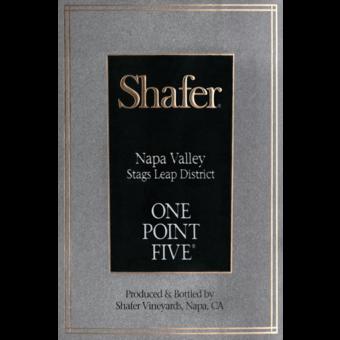 Label shot for 2018 Shafer Cabernet Sauvignon One Point Five