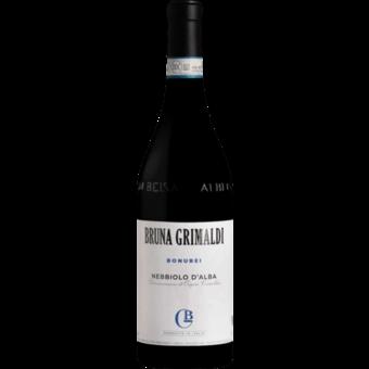 Bottle shot for 2019 Bruna Grimaldi Nebbiolo D'alba Bonurei