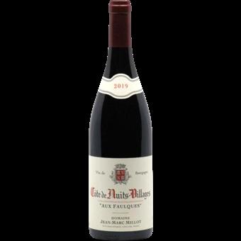 Bottle shot for 2019 Jean Marc Millot Cotes De Nuits Villages 'aux Faulques'
