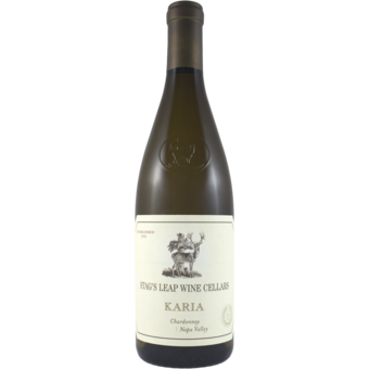 Bottle shot for 2019 Stags Leap W.C. Chardonnay Karia