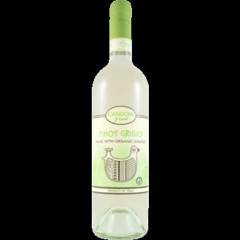 Bottle shot for 2020 Candoni Organic Pinot Grigio