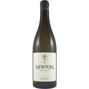 Bottle shot for 2018 Newton Unfiltered Chardonnay