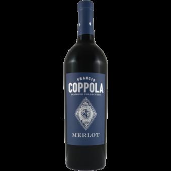 Bottle shot for 2018 Coppola Diamond Merlot