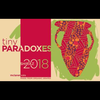 Label shot for 2018 Tiny Paradoxes Mclaren Vale Shiraz