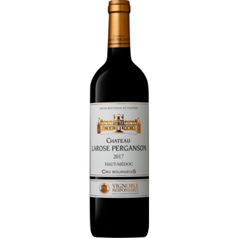 Bottle shot for 2017 Chateau Larose Perganson