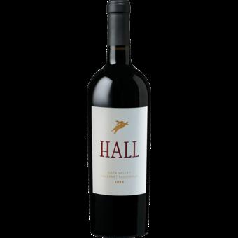 Bottle shot for 2018 Hall Vineyards Cabernet Sauvignon