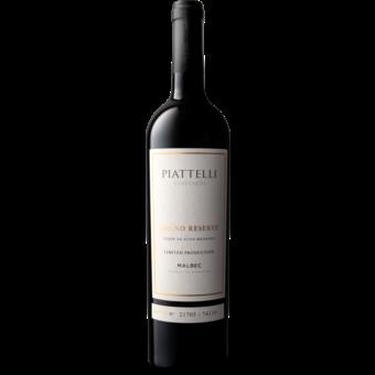 Bottle shot for 2019 Piattelli Grand Reserve Malbec Lujan De Cuyo Limited Production