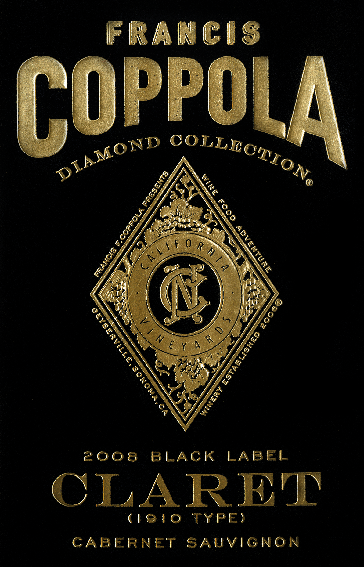It is an image of Delicate Coppola Claret 2009 Black Label