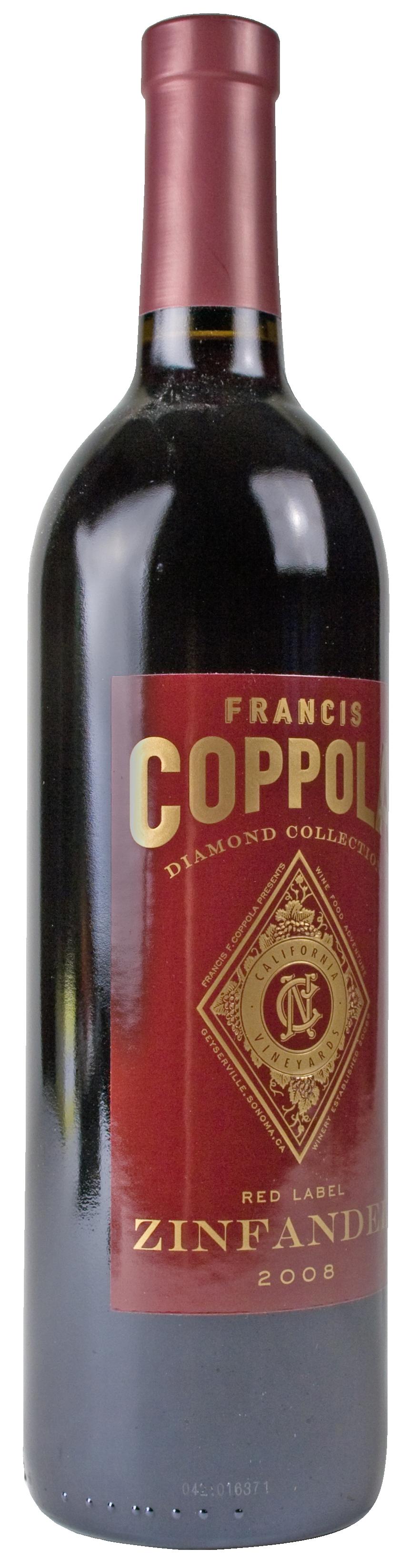 It is a photo of Amazing Coppola Claret 2009 Black Label