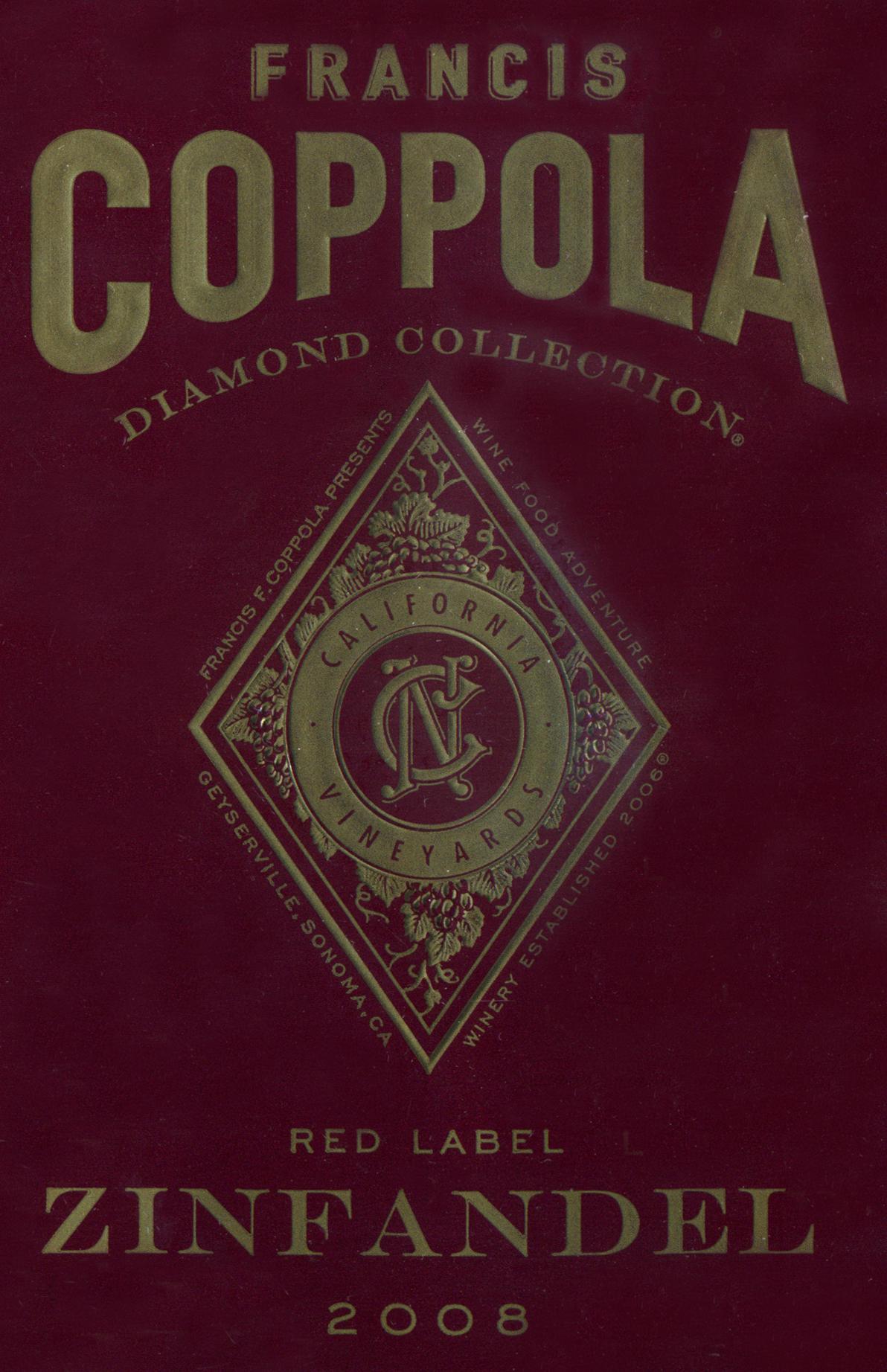 It's just a photo of Wild Coppola Claret 2009 Black Label