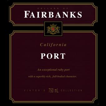 Label shot for  Gallo Fairbanks Port