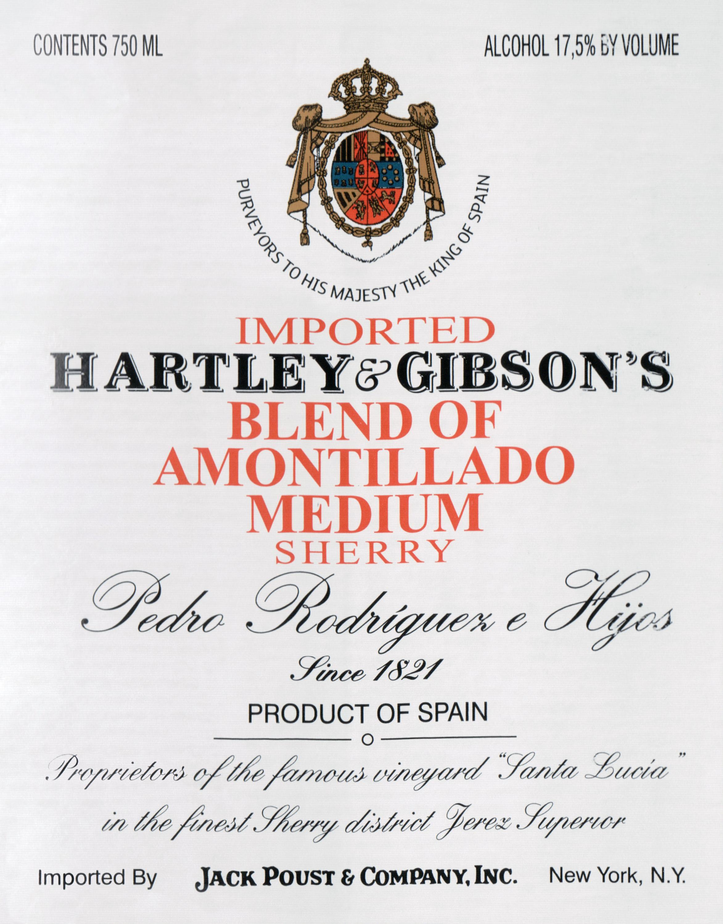 Hartley & Gibson Amontillado S