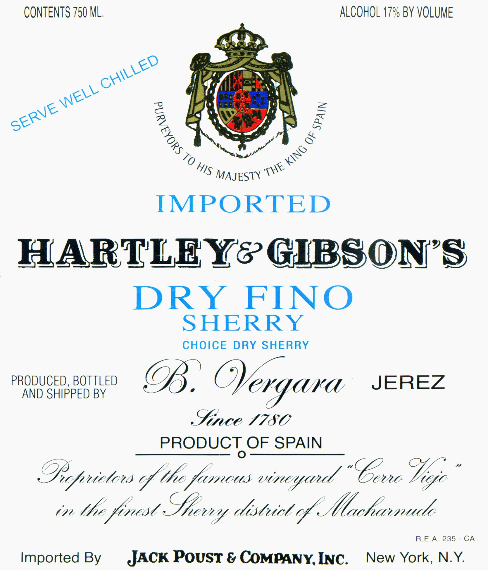 Hartley & Gibson Fino Sherry