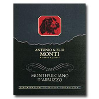 Label shot for 2005 Monti Montepulciano D'abruzzo