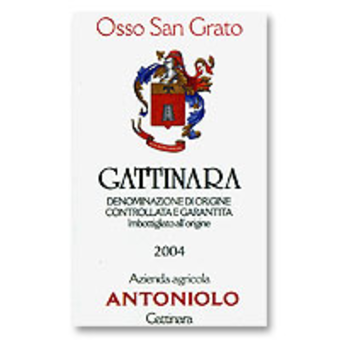 Label shot for 2004 Antoniolo Gattinara Osso San Grato