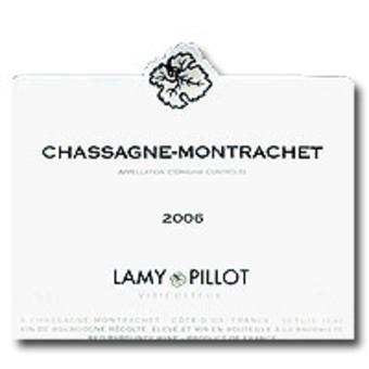 Label shot for 2006 Lamy Pillot Rouge Chassagne Montrachet