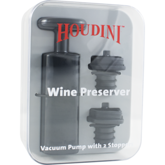 Bottle shot for  Houdini Wine Preserver Pump With 2 Stoppers