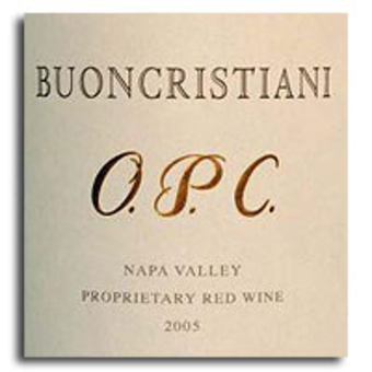 Label shot for 2005 Buoncristiani Napa Claret Opc