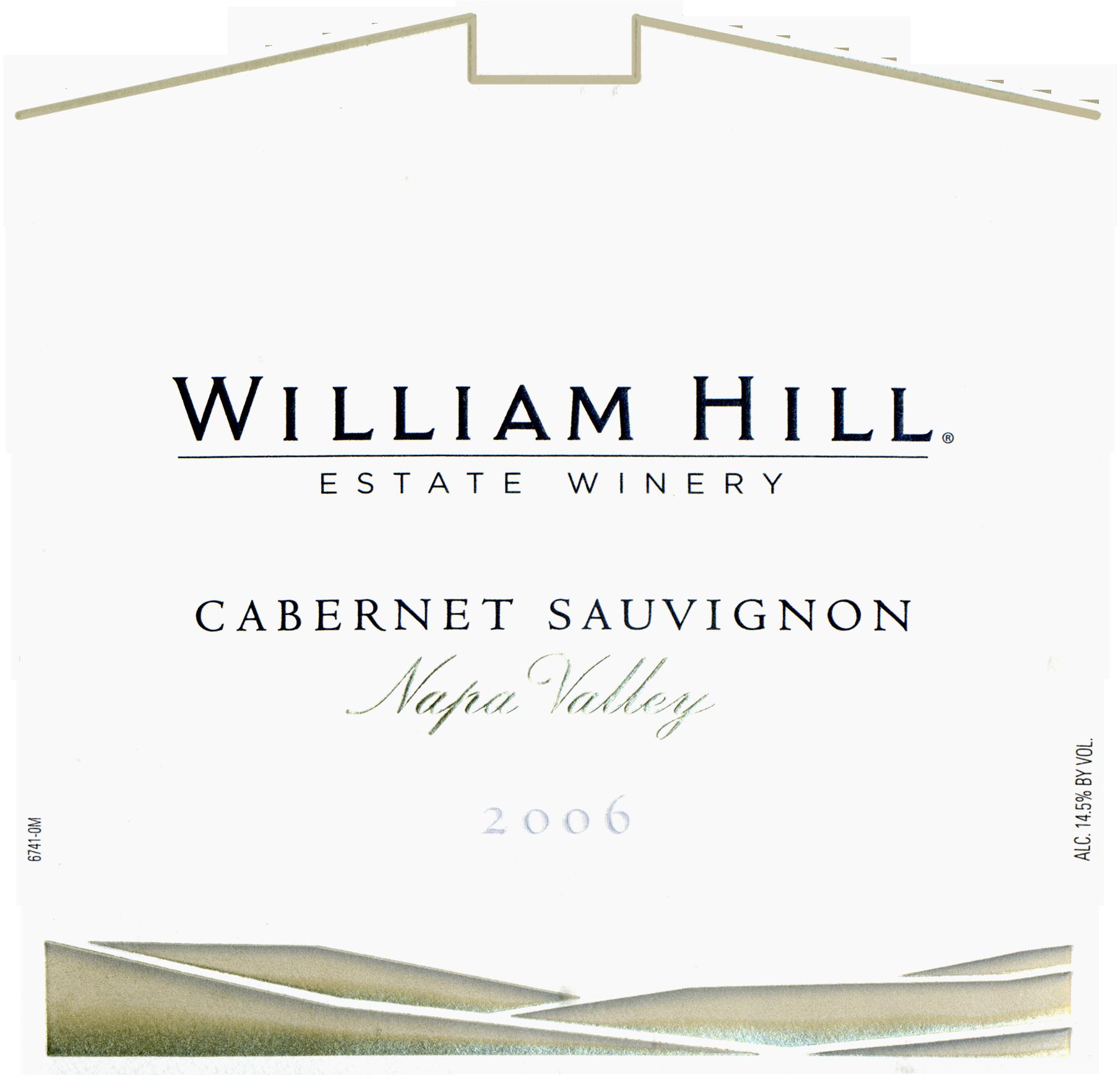 2006 William Hill Cabernet Sauvignon Wine Library