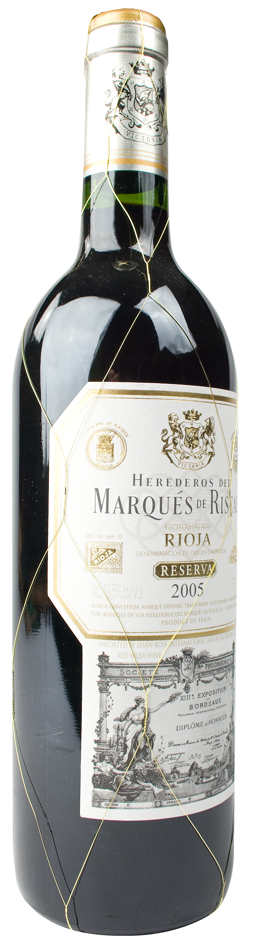 2005 marques de riscal rioja reserva wine library for Marques de riscal rioja