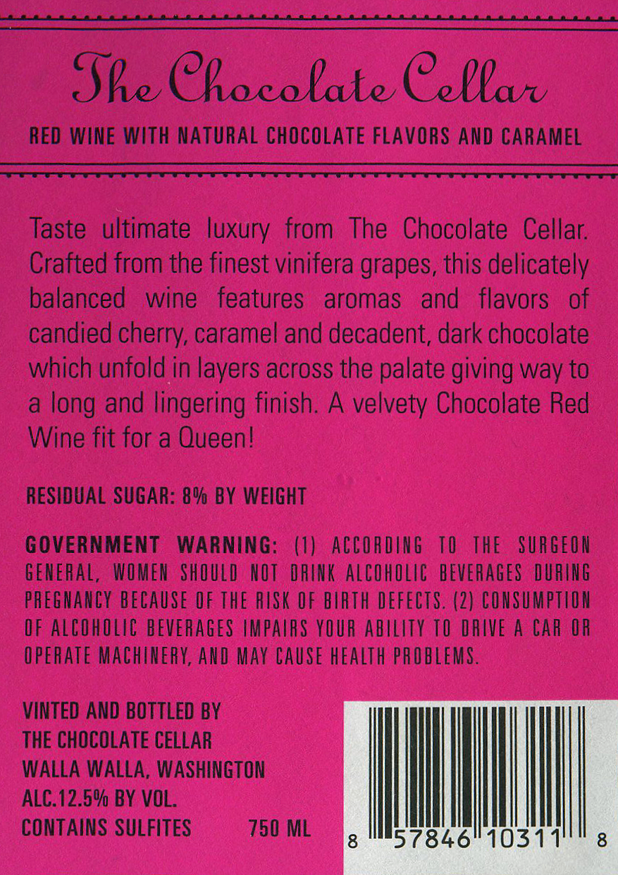 Iphone label thumb Iphone label thumb ...  sc 1 st  Wine Library & The Chocolate Cellar Chocolate Red Wine | Wine Library