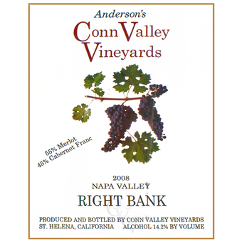 Label shot for 2008 Conn Valley Right Bank Red