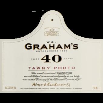 Label shot for  Graham's 40 Year Tawny Port