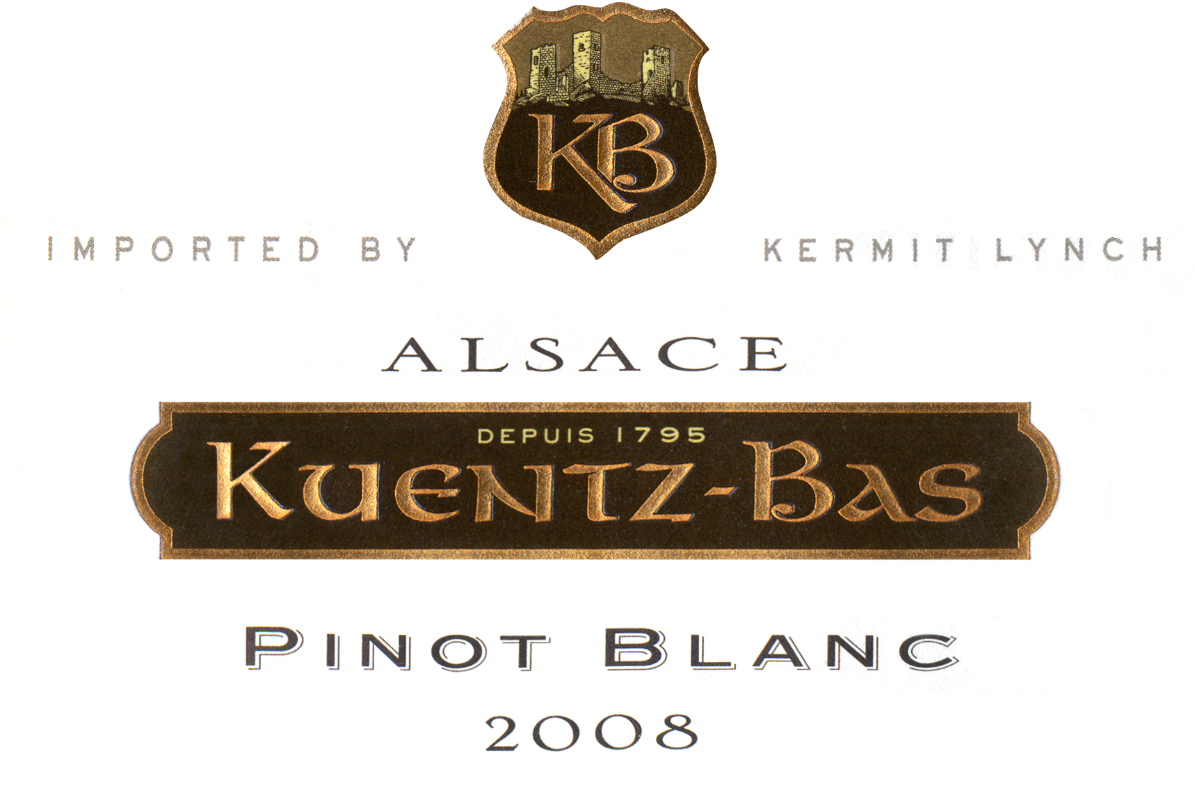 2008 kuentz bas pinot blanc wine library. Black Bedroom Furniture Sets. Home Design Ideas