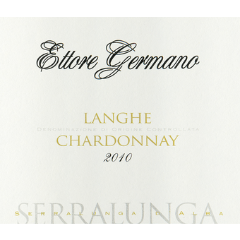 Label shot for 2010 Germano Chardonnay