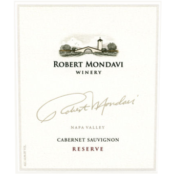 Label shot for 2009 Robert Mondavi Reserve Cabernet Sauvignon