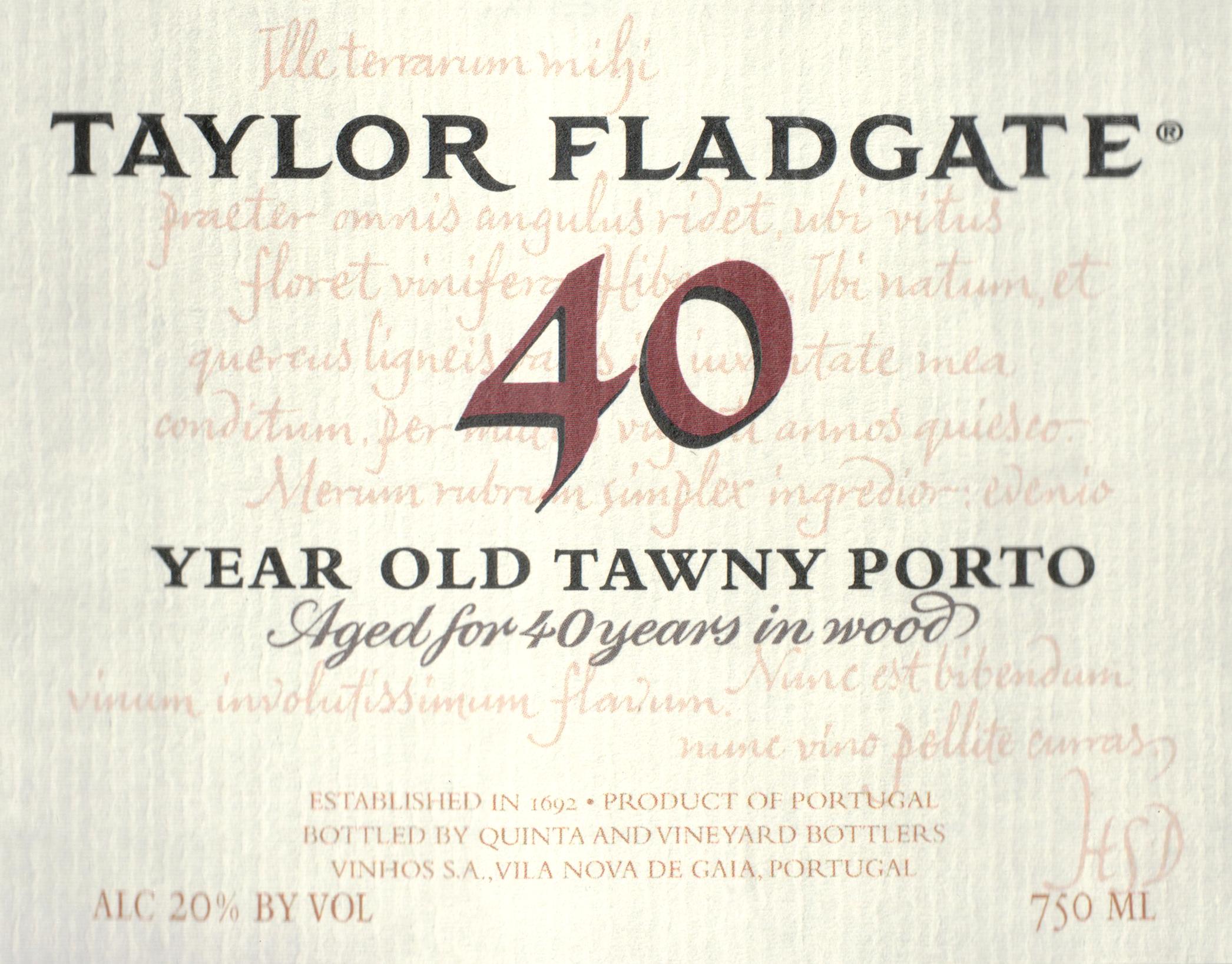 Taylor Fladgate 40 Year Tawny Port