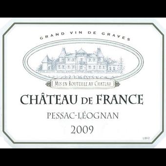 Label shot for 2009 Chateau De France Pessac Leognan