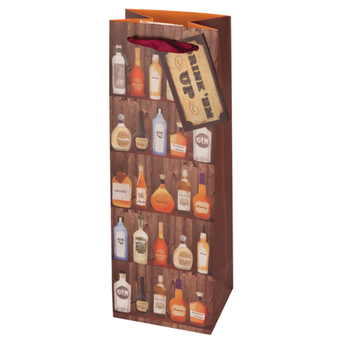 Label shot for  Saloon Sack Wine Gift Bag