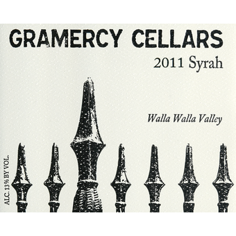 2011 Gramercy Cellars Syrah Walla Walla Valley | Wine Library
