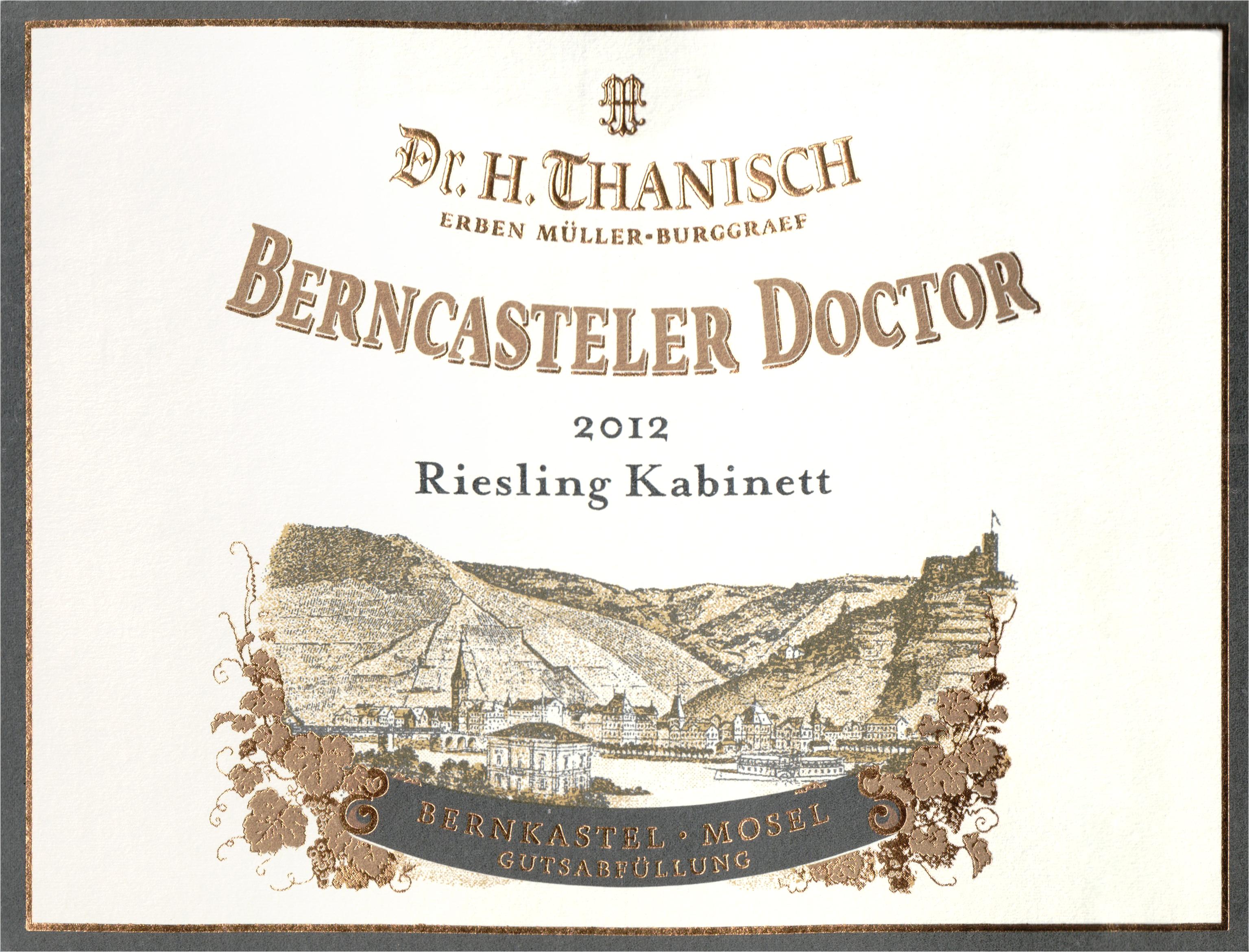 Dr. Thanisch Berncasteler Doctor Riesling Kabinett 2012
