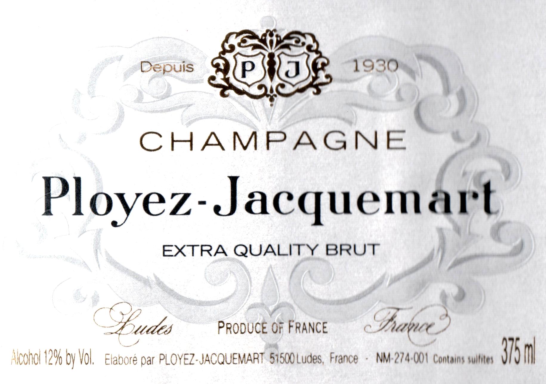 Ployez Jacquemart Extra Quality Brut Half Bottle