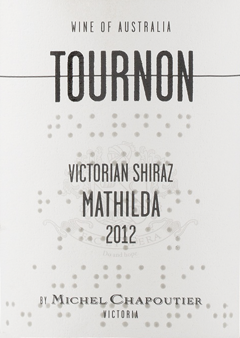 Tournon Victorian Shiraz Mathilda 2013 Red Austrailian Wine