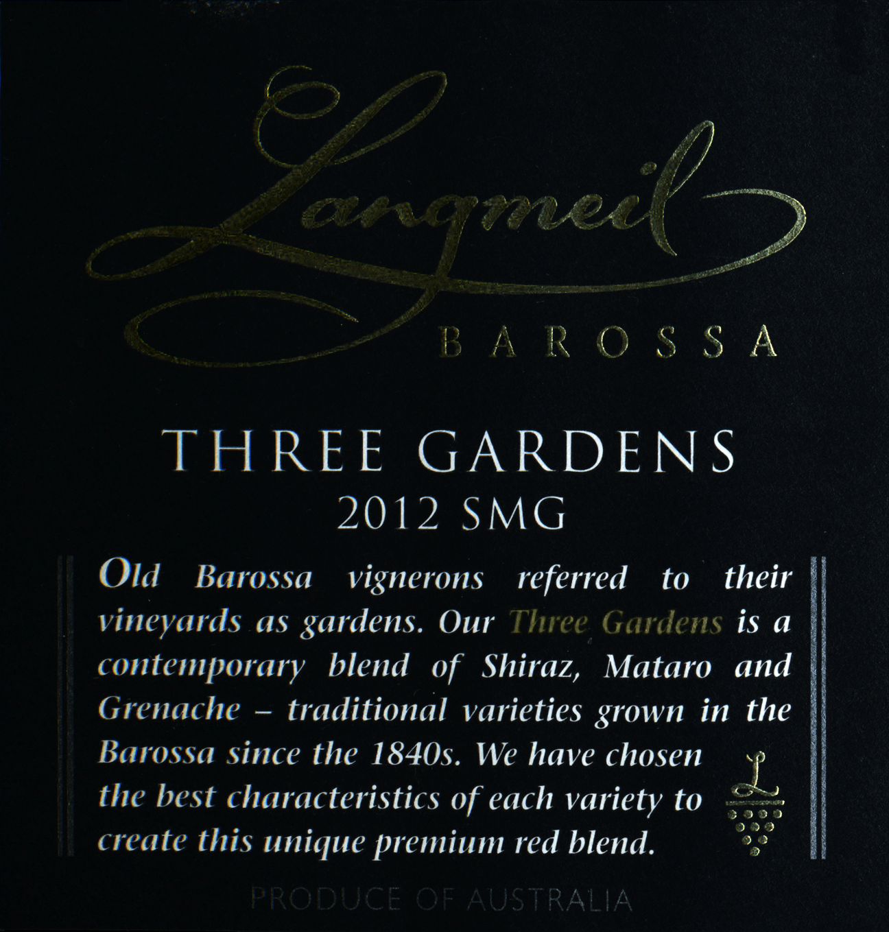 2012 Langmeil Three Gardens GsmBlend from Australia