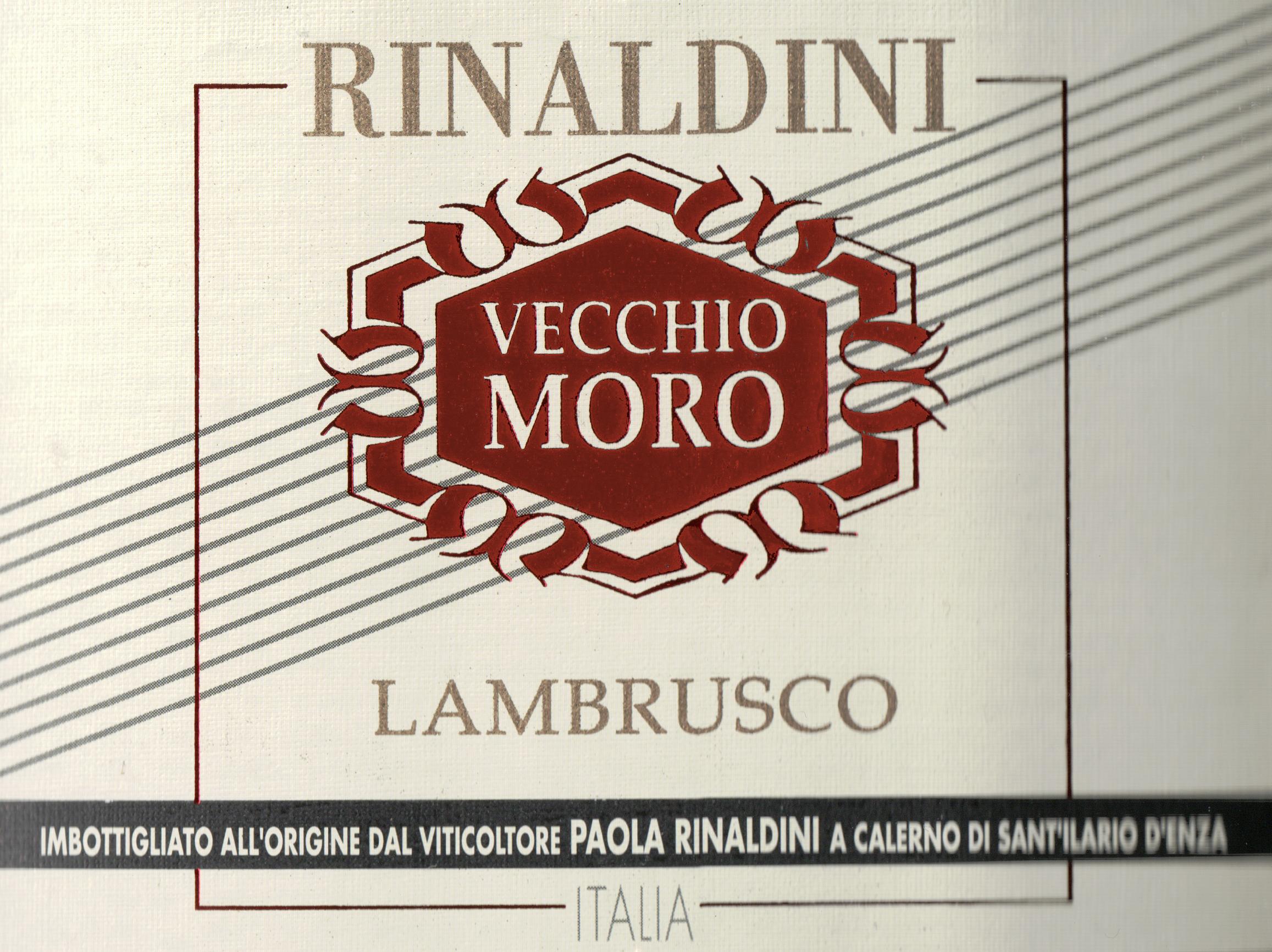 Rinaldini Lambrusco Vecchio Moro