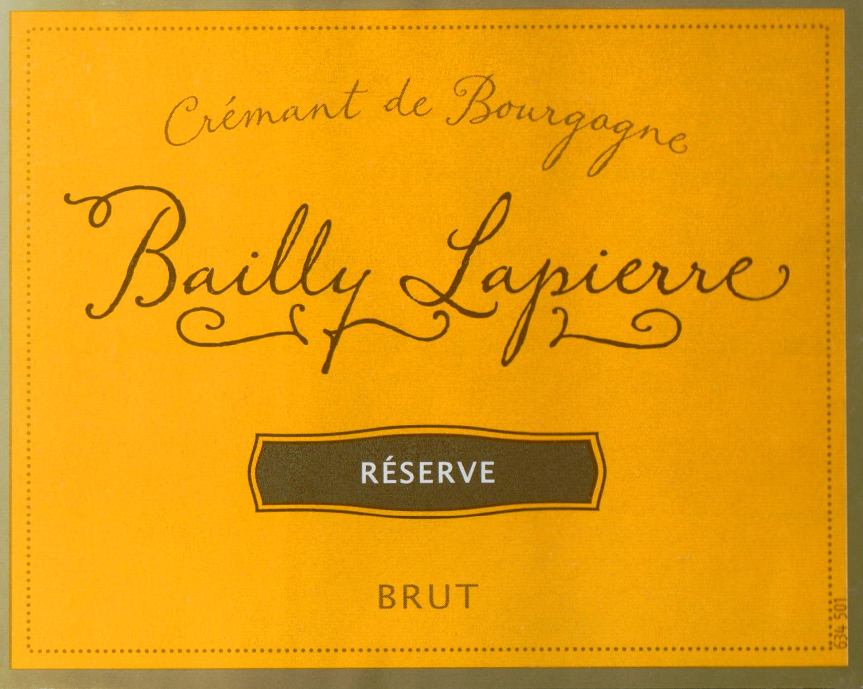 Bailly Lapierre Cremant De Bourgogne Reserve Brut Half Bottle